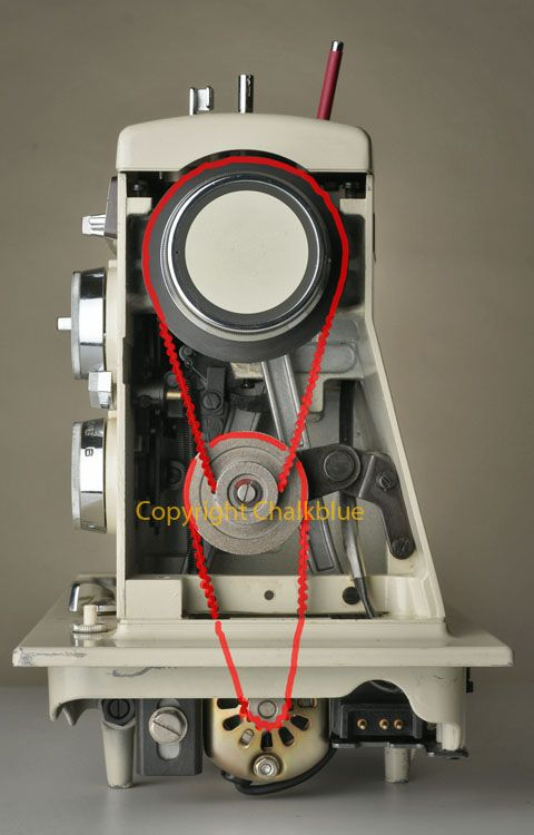 Speed Reduction for a Belt Drive Sewing Machine
