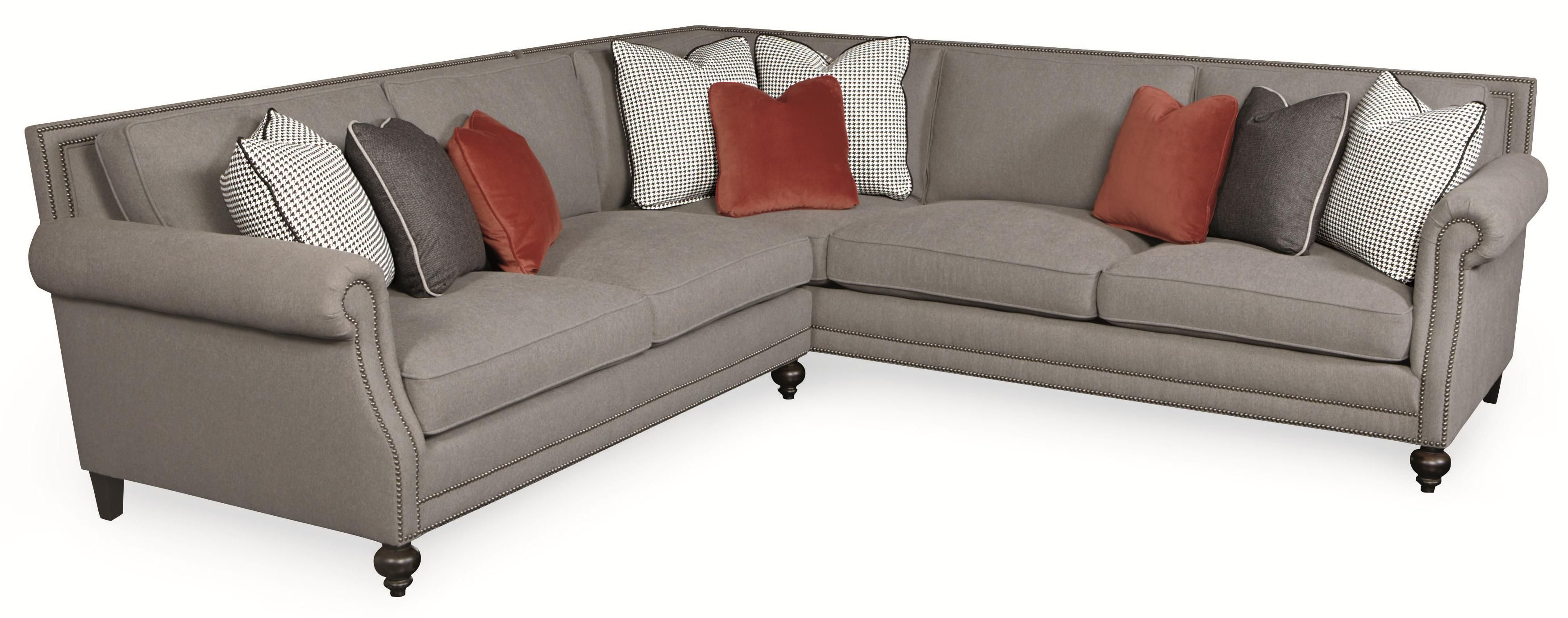 Brae Five Seat Sectional Sofa With Transitional Style By Bernhardt Brae Collection Spritnz
