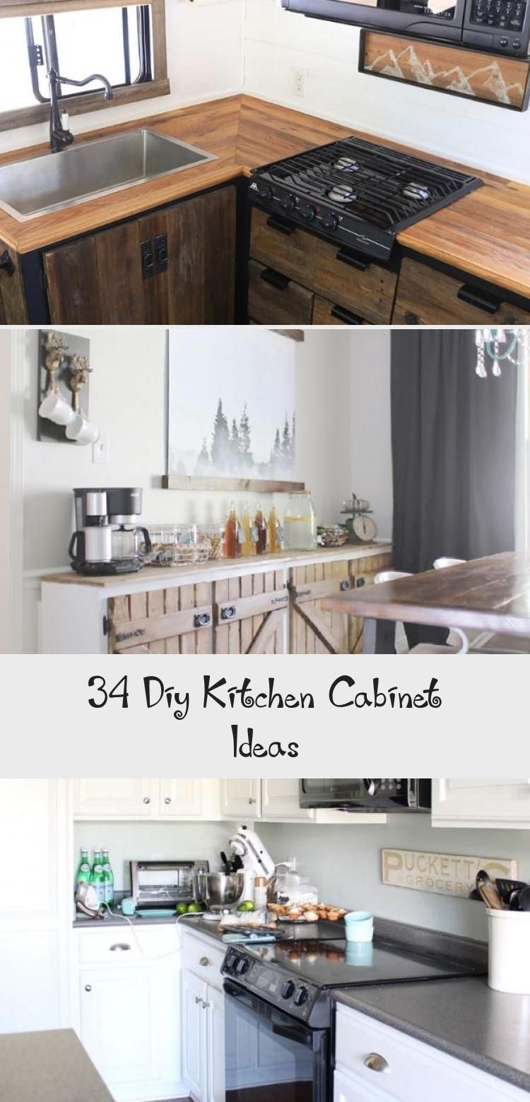 34 Idees D Armoires De Cuisine Bricolage Erin S Blog 34 Idees D Armoires In 2020 Diy Kitchen Cabinets Cheap Kitchen Cabinets Kitchen Cabinets Painted Grey