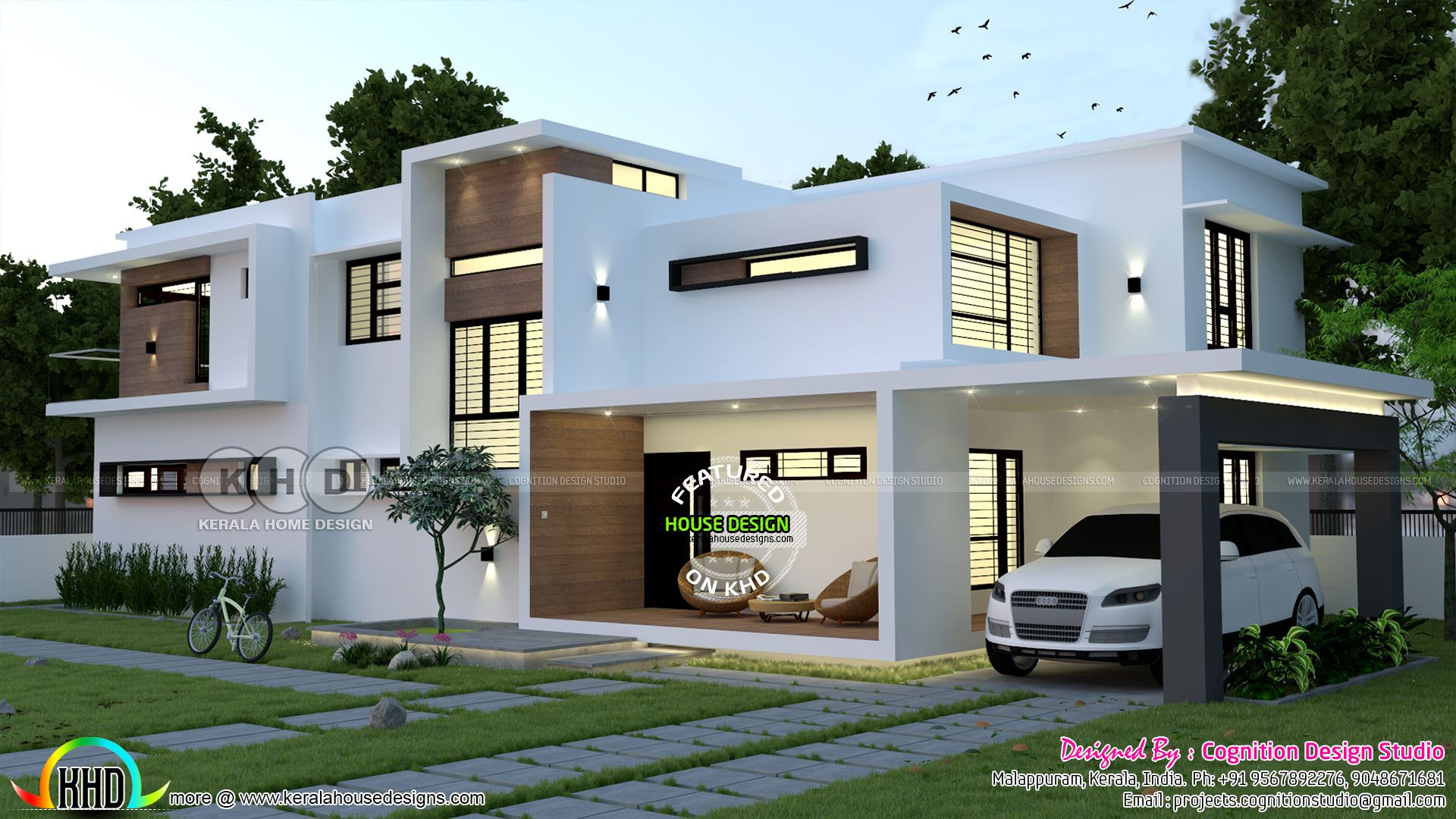 Minimalist 5 Bedroom Contemporary Home 2925 Sq Ft In 2020 Kerala House Design Best Small House Designs Best Modern House Design