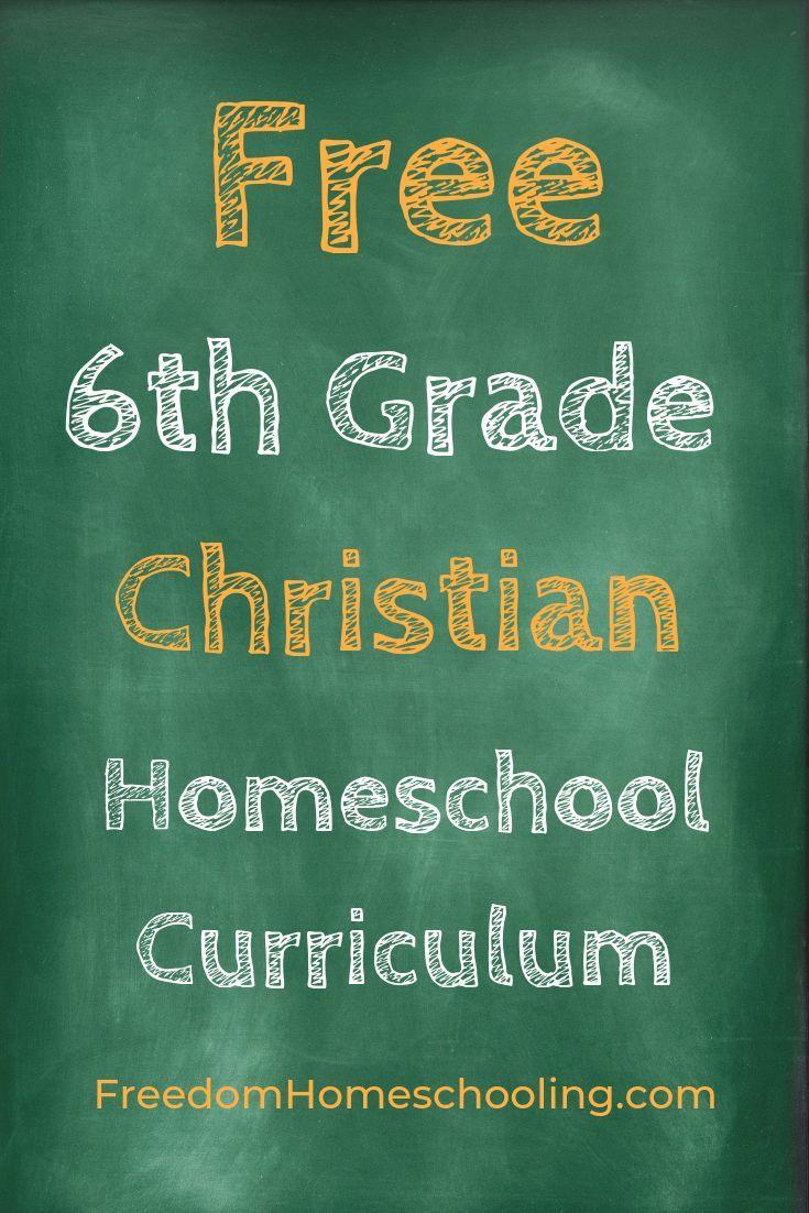 Free 6th Grade Christian Homeschool Curriculum