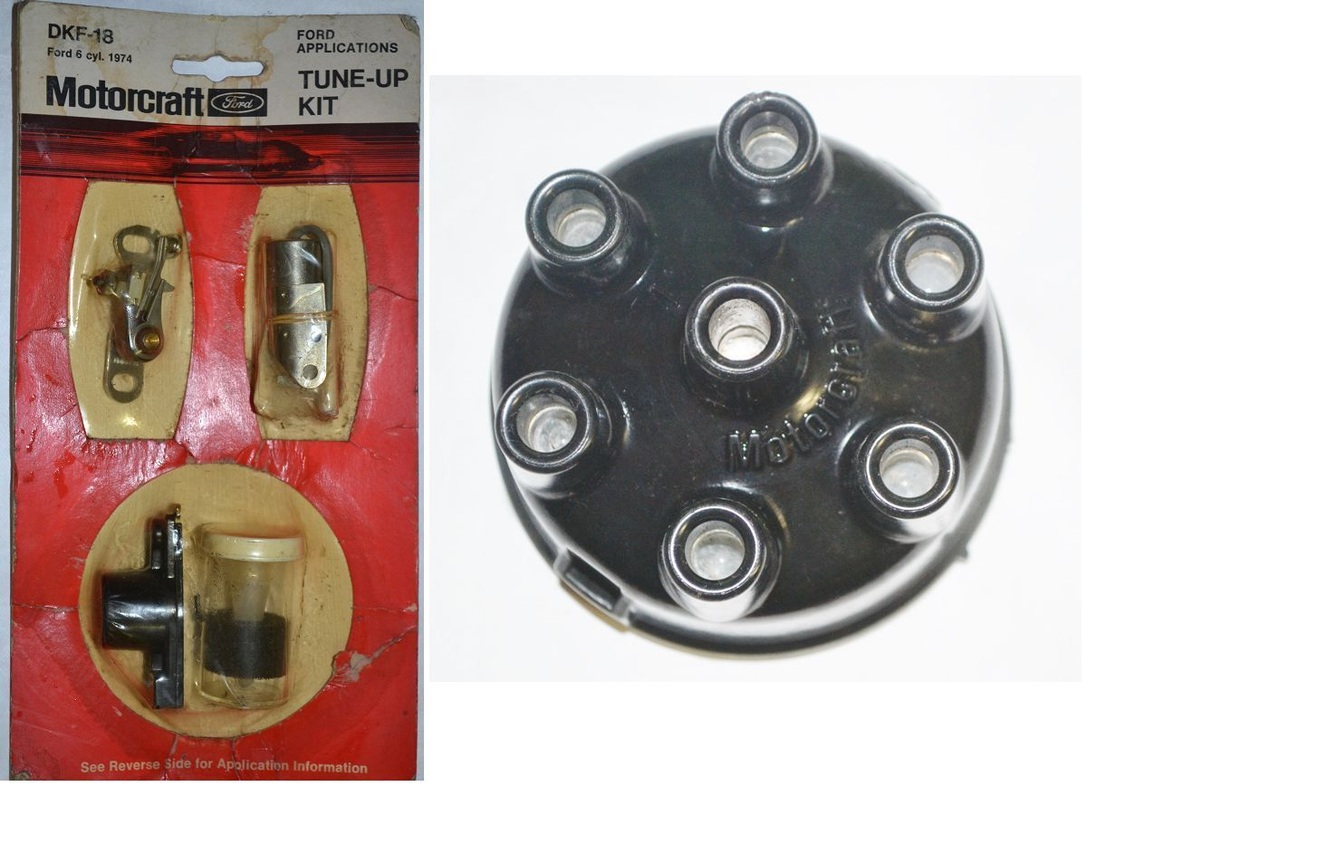 Motorcraft Distributor Cap Rotor Points Condenser Ford Mercury Edsel 6 Cylinder   eBay