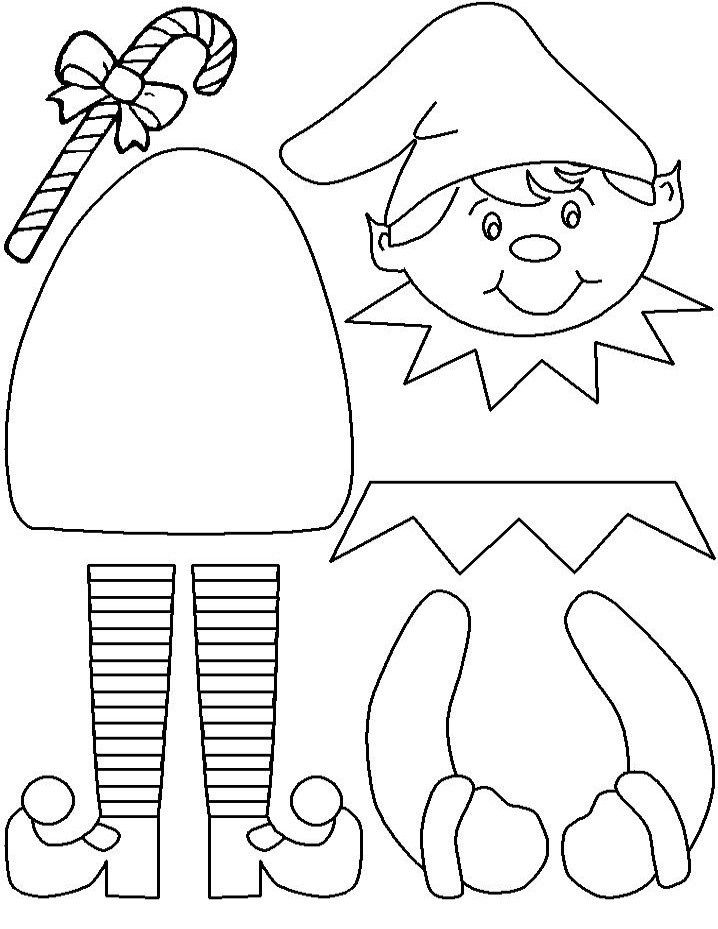 Elf On The Shelf Coloring Pages Page 1 christmas Pinterest