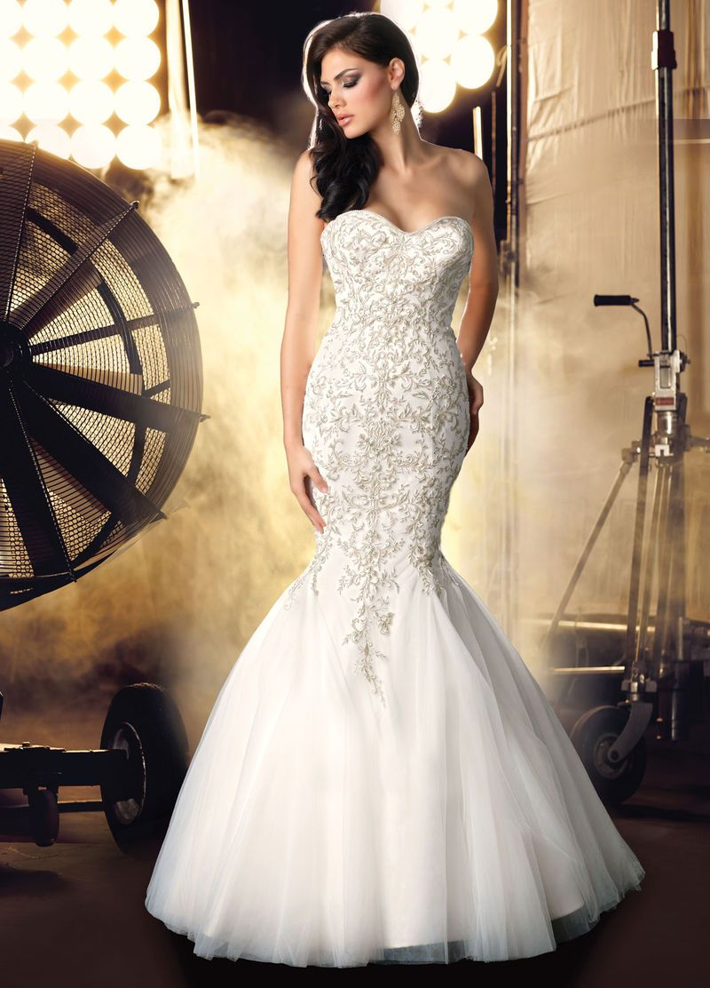 2017 Alluring Mermaid Sweetheart Tulle Embroidery Luxury Wedding Dress Under Price 391 99 Gifilight