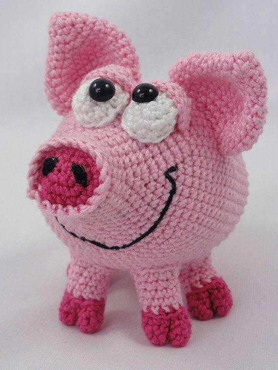 Amigurumi Crochet Pattern - HAMilton the Piglet | Gehäkelte puppen ...