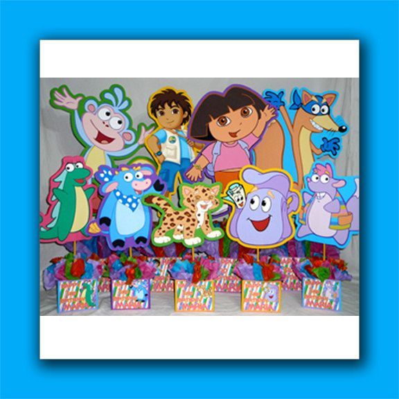 Set of 9 DIY Supply Kit Personalized Dora the Explorer Birthday