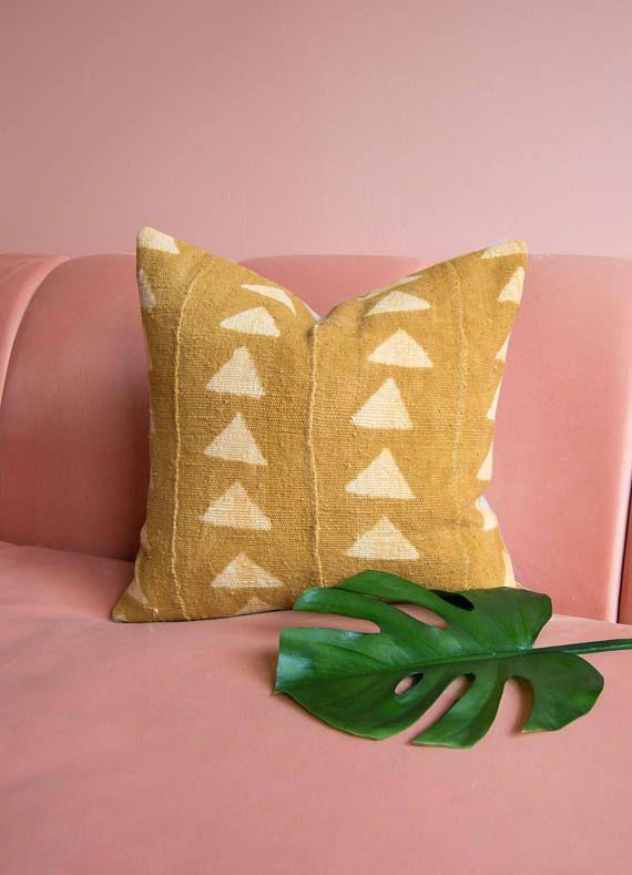 Black Mudcloth Pillowcover Throw Pillow