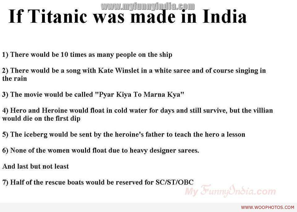 oh well nothing compare to the classic swag sada desi funny pictures jokes and gifs animations if titanic was made in what would have been