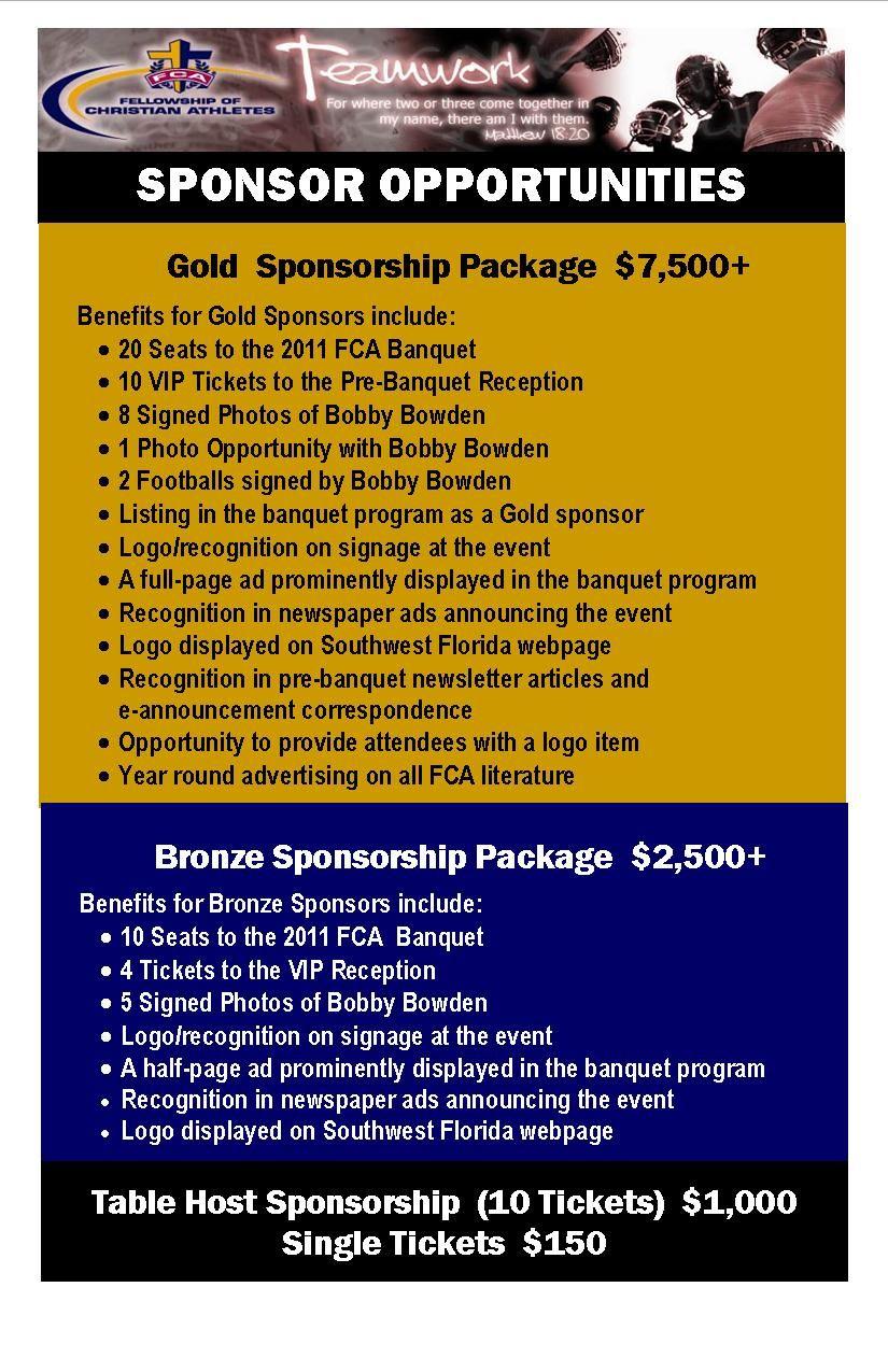 Sponsorship Poster Sponsorship Levels Business