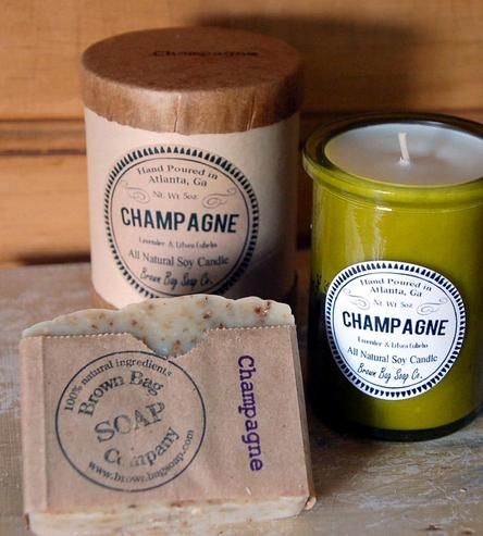Champagne Soap & Candle Gift Set by Brown Bag Soap Co. on Scoutmob Shoppe