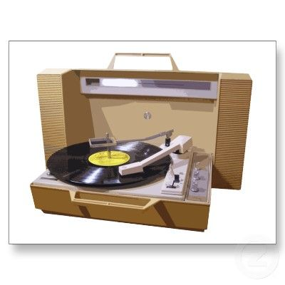 Photo of Portable vintage record player