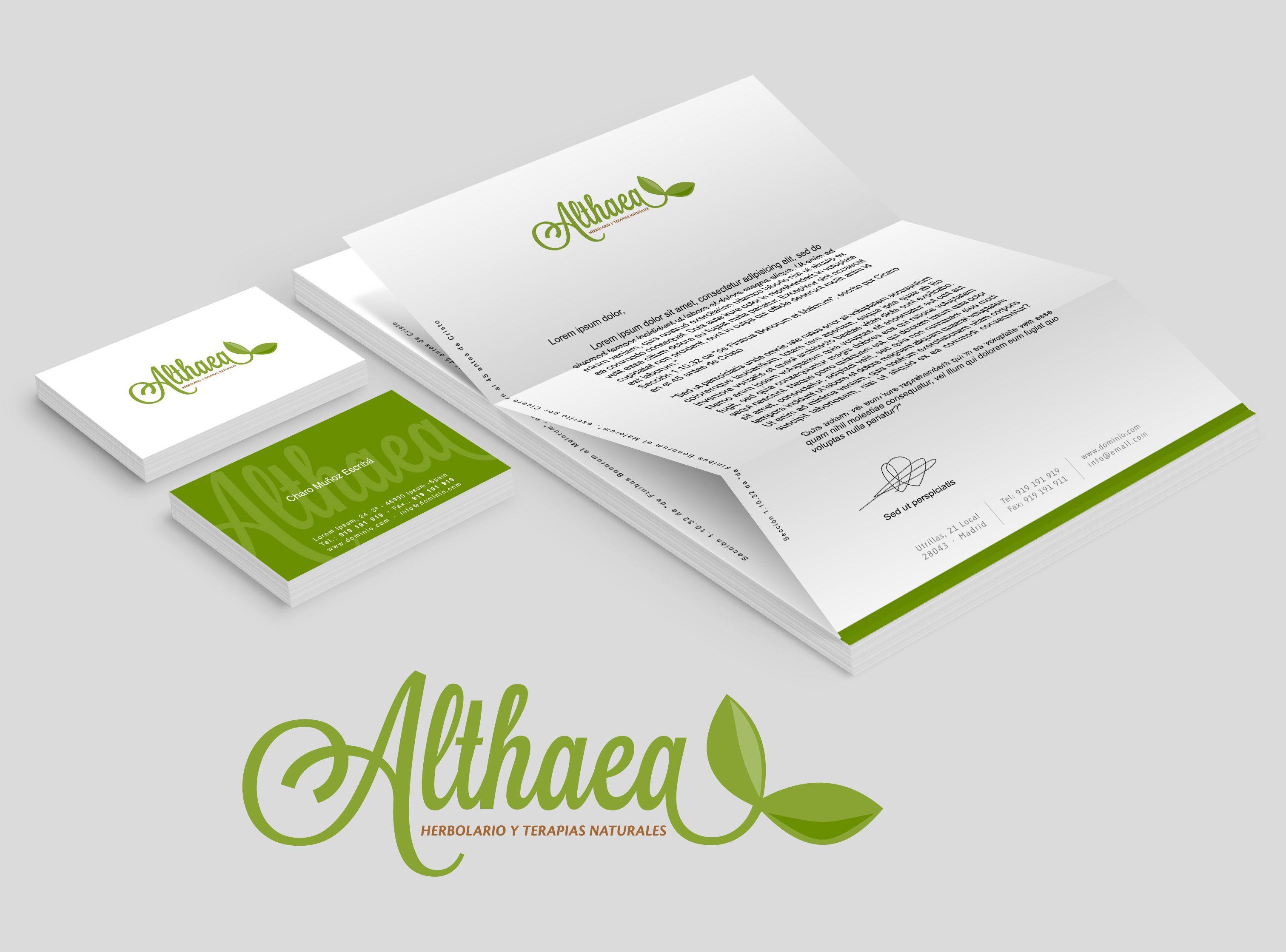 Restiling logotipo para  Herbolario Althaea