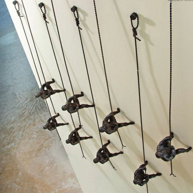 """Kids Rooms Climbing Walls And Contemporary Schemes: The """"Iron Climbing Men"""" Sculptures Are Great For A"""