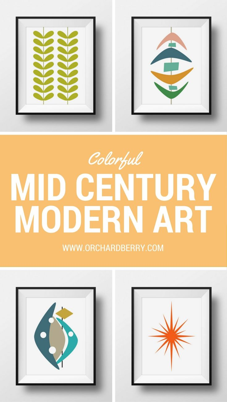 Colorful one of a kind mid century modern prints for your home ...