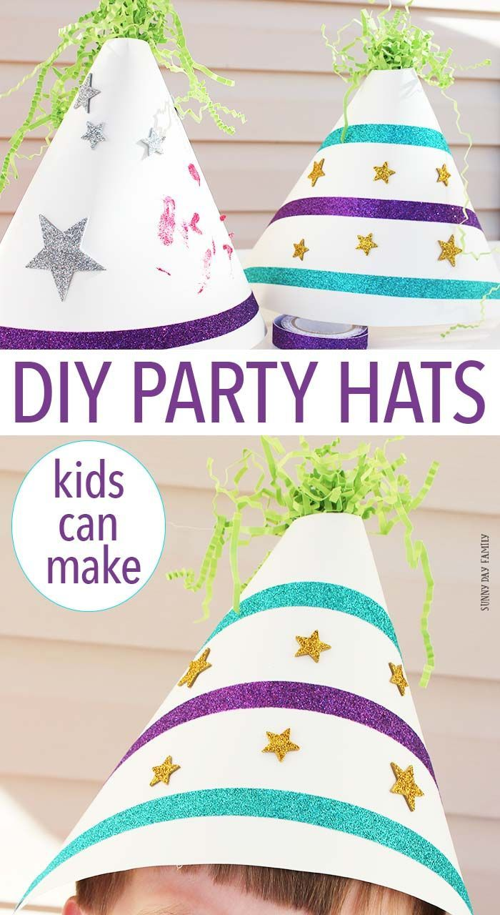 Fun & Easy DIY Party Hats Kids Can Make | Pinterest | Party ...