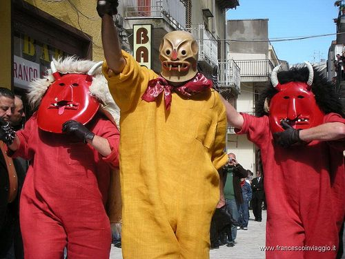 The Devils' Ball for Easter in Prizzi near Palermo, Sicily