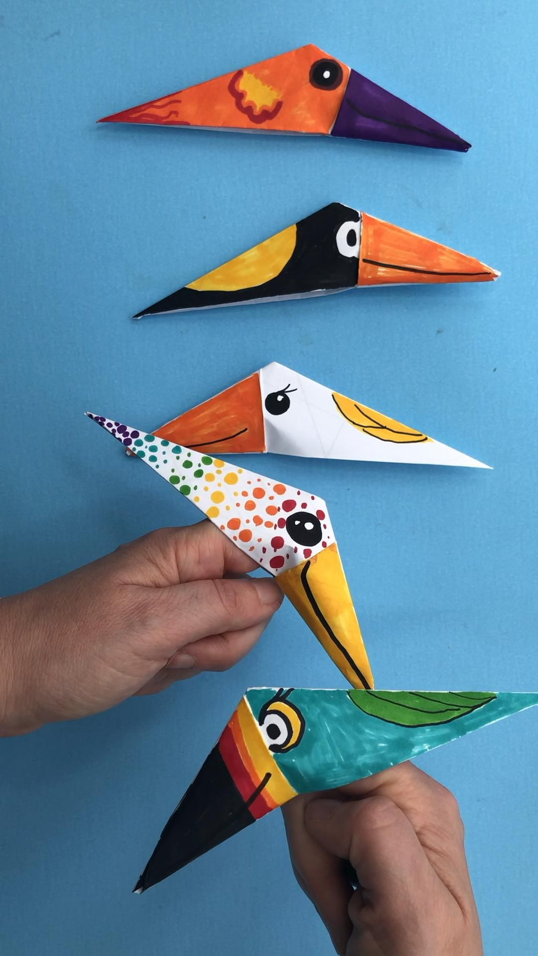 Photo of Easy Bird Finger Puppet Origami – Red Ted Art
