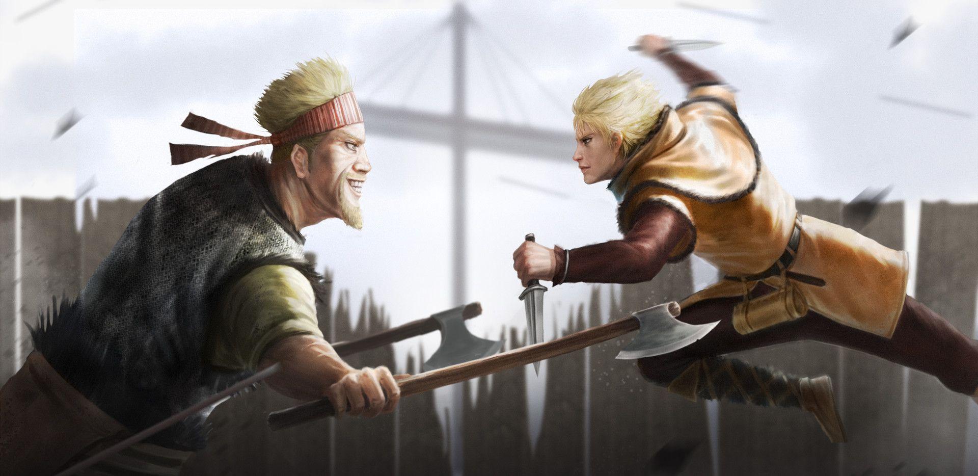 ArtStation Thorfinn & Thorkell, Marco Lopena Vikings