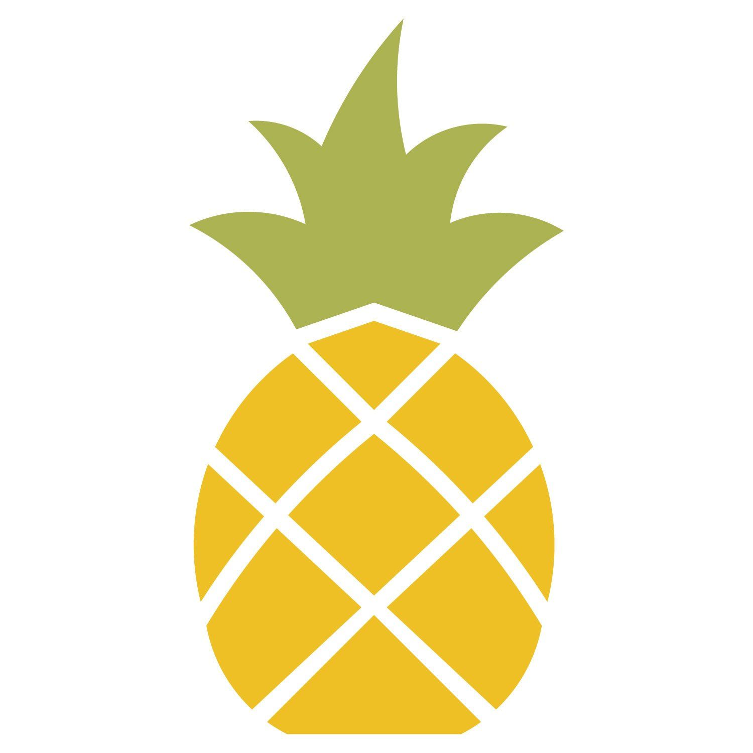 Pineapple Stencil   Pineapple drawing, Pineapple clipart ...  Cute Pineapple Stencil