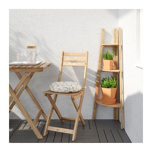 Askholmen Piedestal Teinte Brun Clair Support Plante Piedestal Et Bois Pour Exterieur