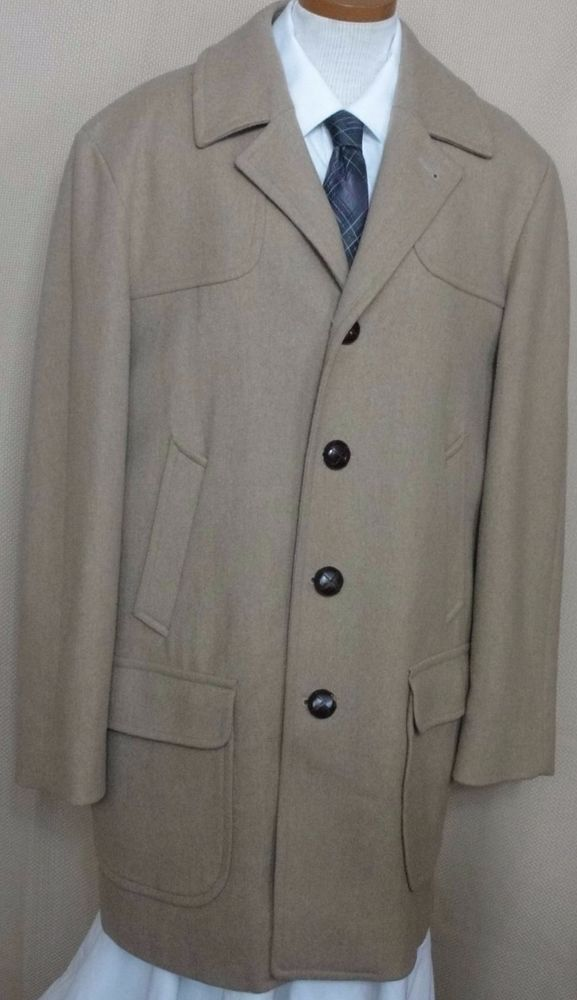 Pendleton Vintage Camel Wool Dress Coat