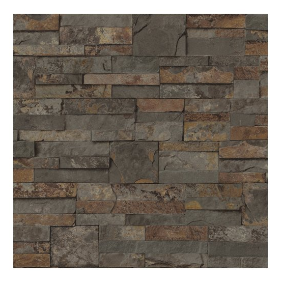 Blue mountain mini ledgestone brown peelable vinyl prepasted wallpaper pre pasted scrubbable our blue mountain