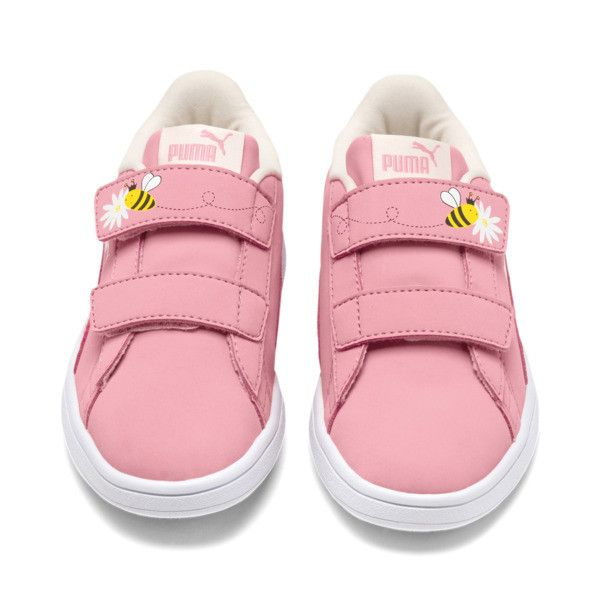 PUMA Smash v2 Bees Little Kids' Shoes, Pink, 2 | Chaussure enfant ...