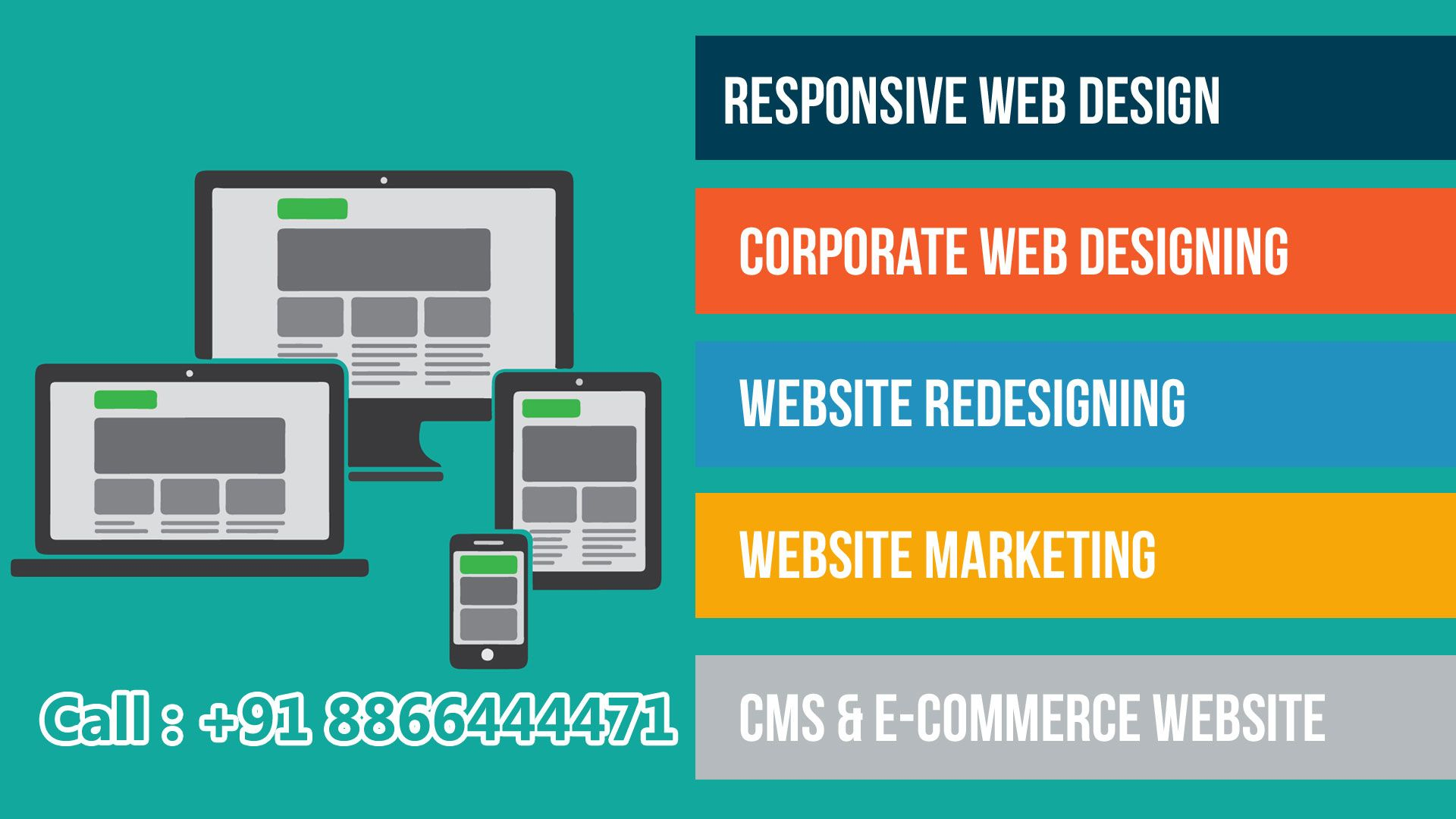 Static website @ 2999 E-commerse Website starting @ 8999 Call or