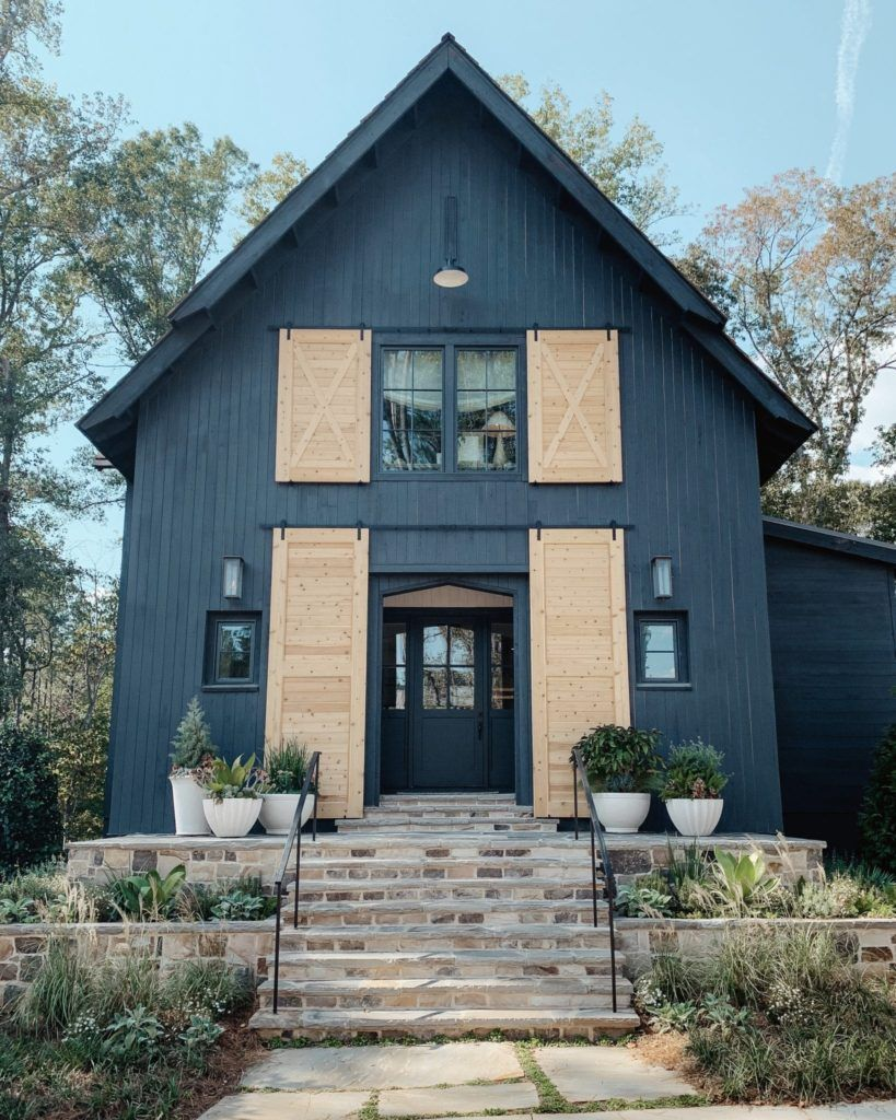 Serenbe A Wellness Community And Neighborhood Just Outside Of Atlanta Ga Host A Designer Home Show Modern Farmhouse Exterior Farmhouse Exterior Exterior Design