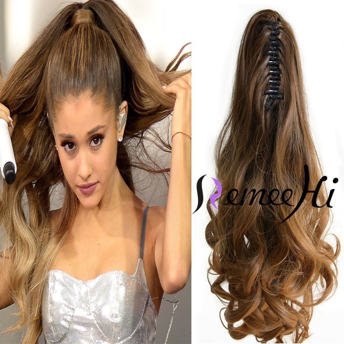 Details About 100 Real Human Hair Body Wave Claw Clip High