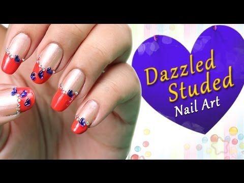 Dazzled studded nail art do it yourself httpyoutube dazzled studded nail art do it yourself httpyoutube solutioingenieria Choice Image