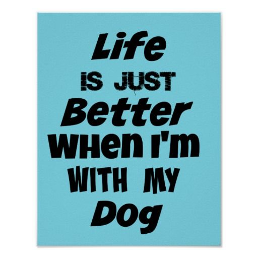 Life Is Just Better When I'm With My Dog Quote Poster Dogs Quotes New Posters With Quotes On Life