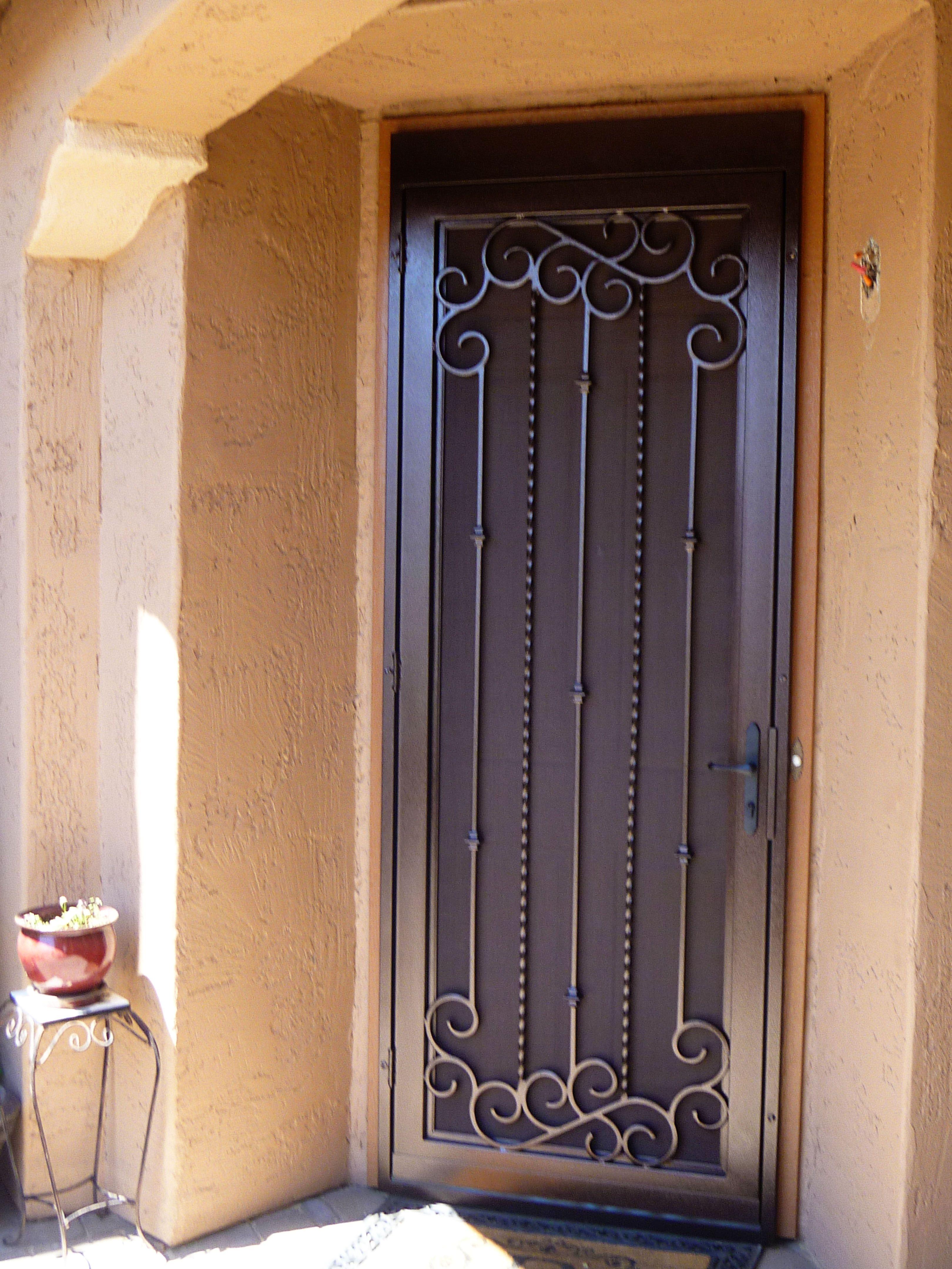 Security entrance gate glazed decorative security entrance doors - Main Entrance Door Security