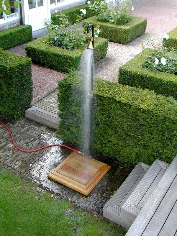 Wellness  Spa » Die Dusche für den Garten \u2013 Solar, wie Wasserfall