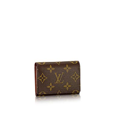 Business Card Holder Monogram Canvas Small Leather Goods Louis