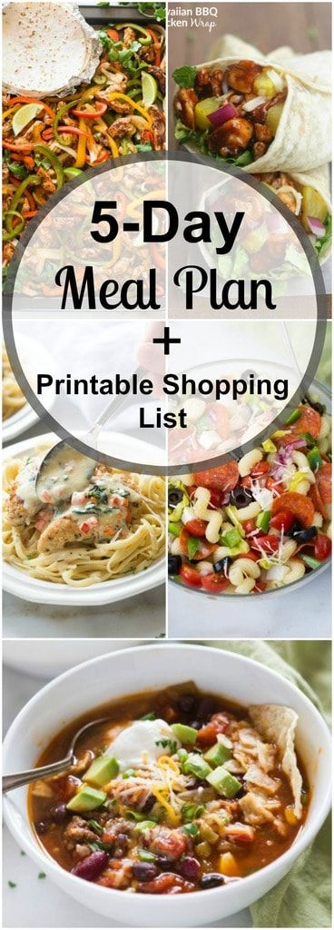 Weekly Meal Plan (15) | Meals for the week, Monthly meal ...