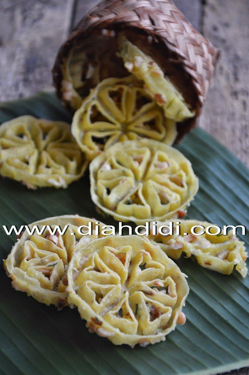 Diah Didi S Kitchen Rempeyek Kembang Goyang Makanan Enak Resep Masakan Indonesia Resep