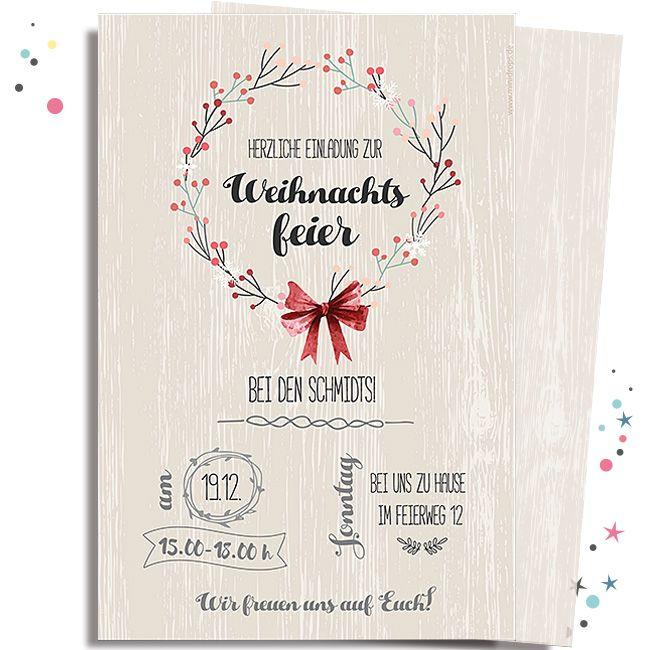 einladungskarte weihnachtskranz einladung weihnachtsfeier einladungen und einladungskarten