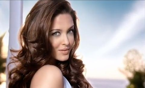 Aishwarya Rai in a L'Oreal hair color commercial ...