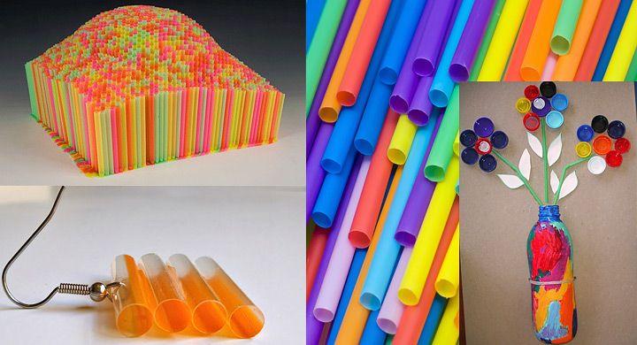 Ideas para reciclar pajitas de colores popotes - Colores para reciclar ...