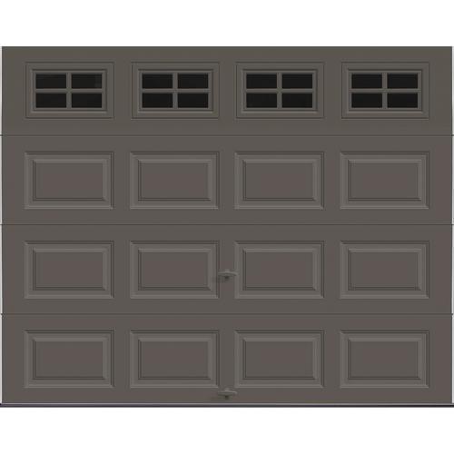 Ideal Door Traditional 9 X 7 Bronze Insulated Garage Door With Windows R Value 12 9 Garage Door Insulation Modern Garage Garage Doors