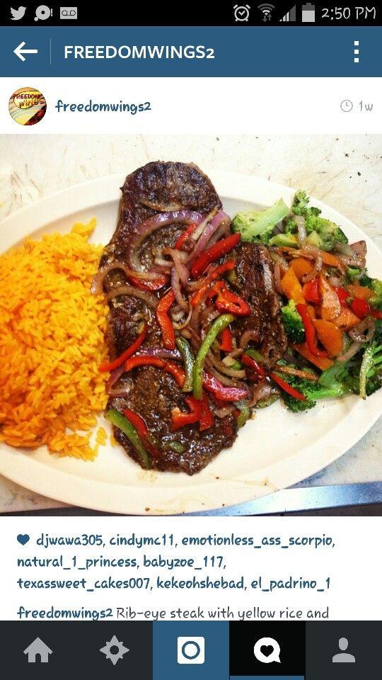 Steak And Yellow Rice Foodie Ribeye Steak Yellow Rice