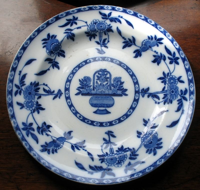 Antique  A Mintons blue and white Plate - Delft Pattern : delft dinnerware sets - pezcame.com