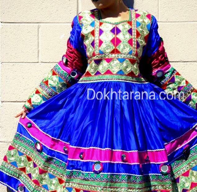 #blue #afghani #dress