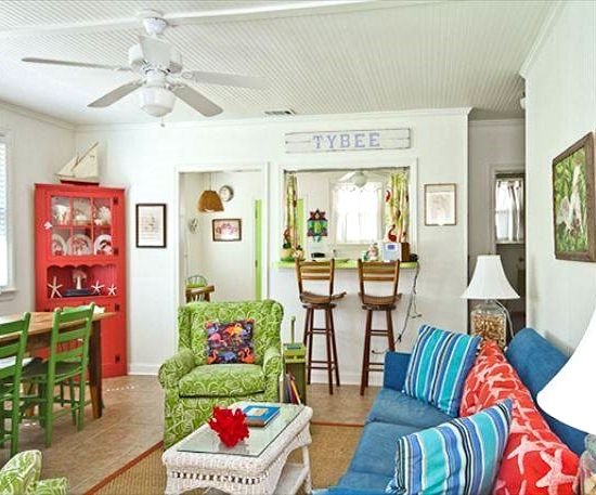 Blissful Tybee Island Beach Cottages #beachcottagestyle