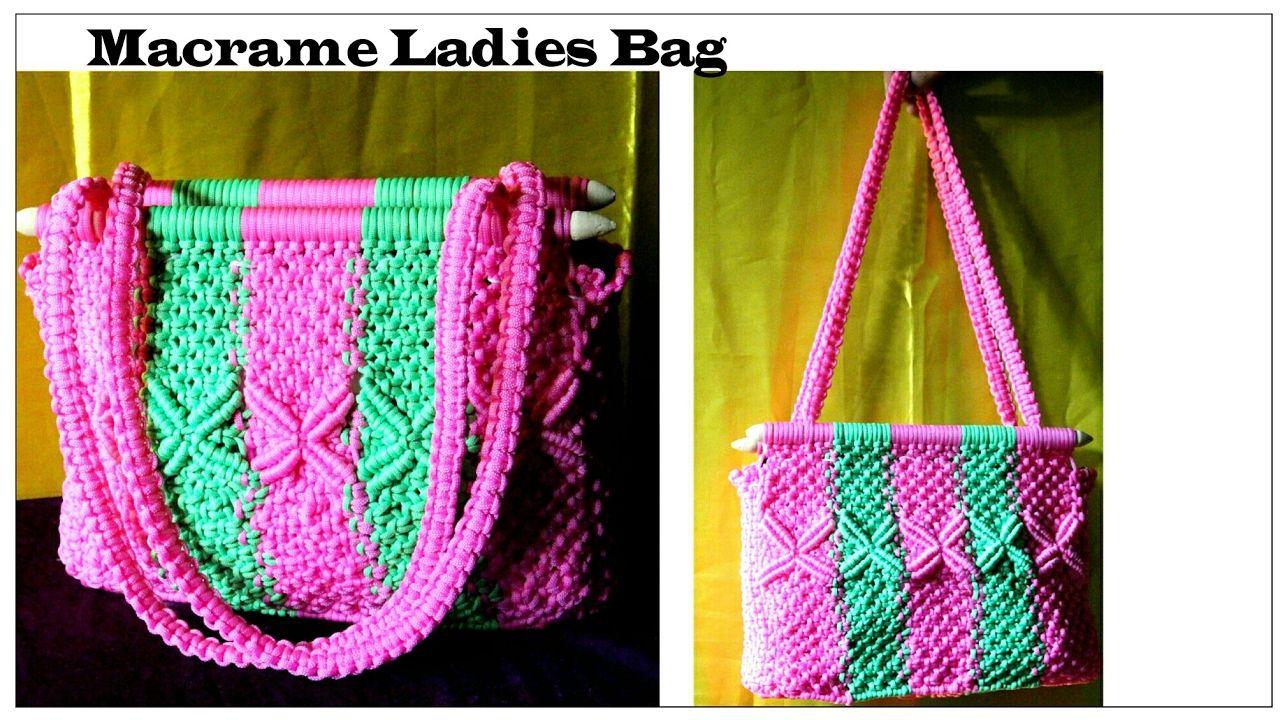 How to Make Handmade Macrame Bag Simple & unique design Using ...