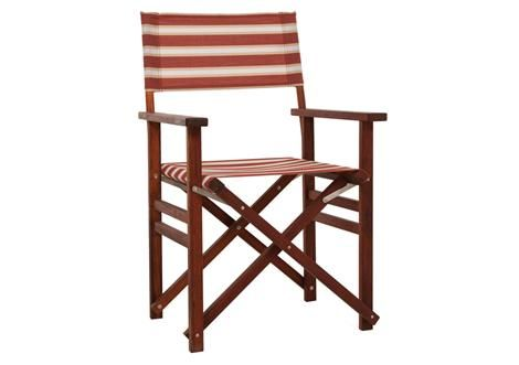 astra directors chair kwila brown red stripe for the home pinterest