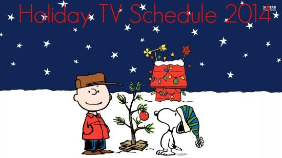 Holiday TV Schedule Holiday Ideas Pinterest Charlie brown
