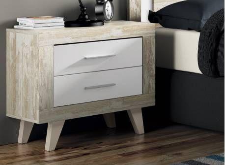 Mesita de noche estilo n rdico elegancia y sencillez lo - Dormitorios estilo nordico ...