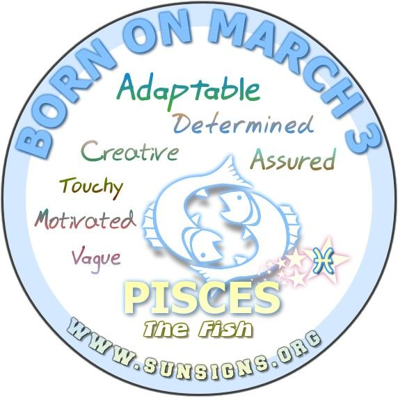 If Your Birthday Is March 3 You Are Motivated And Self Confident The March 3rd Zodiac Sign Is Pisces Yo Birthday Personality Birthday Horoscope March Zodiac